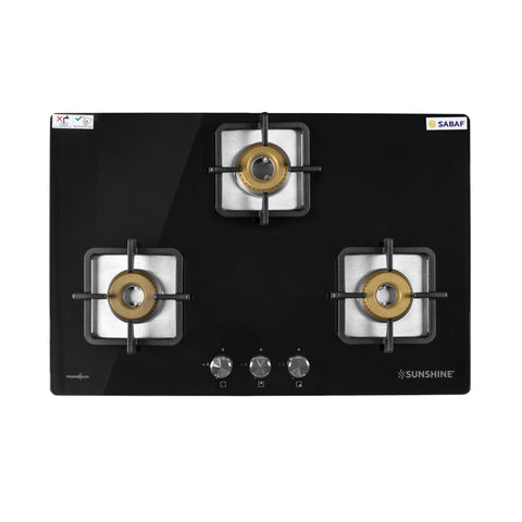 SUNSHINE BUILT-IN HOB TRONIX-783 THREE BURNER AUTO IGNITION