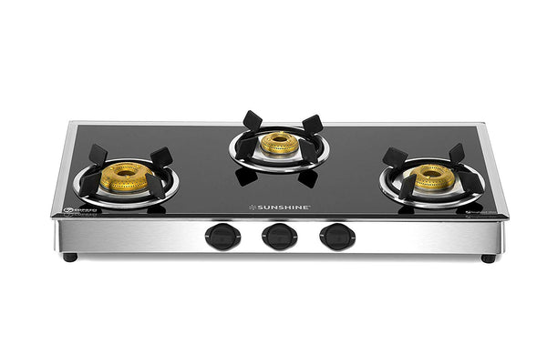 Sunshine Legend Pro 3 Burner Glass Top Gas Stove