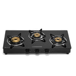 Sunshine Pulsar Three Burner Toughened Glass Gas Stove