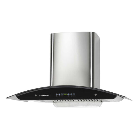 Sunshine Olympus-90 Wall Mounted Auto Clean Chimney - Sunshine Super Kitchen