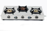 Sunshine Meethi Angeethi Three Burner Stainless Steel Gas Stove