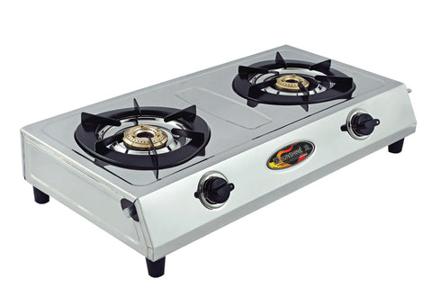 Sunshine OS-2 Double Burner Stainless Steel Gas Stove