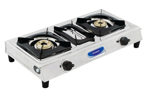Sunshine DT SS Double Burner Stainless Steel Gas Stove