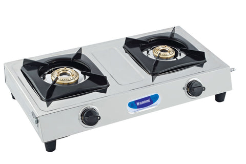 Sunshine Mini Smart Double Burner Stainless Steel Gas Stove
