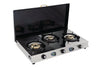 Sunshine T. Cook Cover Three Burner Stainless Steel Gas Stove