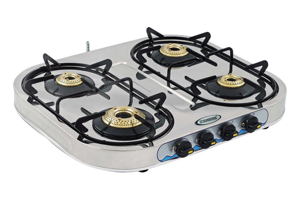 Sunshine Skytech Four Burner Stainless Steel Gas Stove