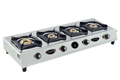 Sunshine CT-900 Four Burner Stainless Steel Gas Stove - Sunshine Super Kitchen