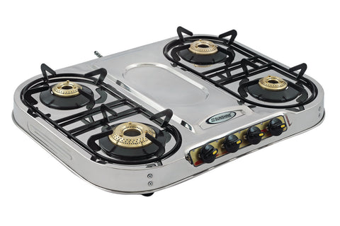 Sunshine Skytech Plus Four Burner Stainless Steel Gas Stove