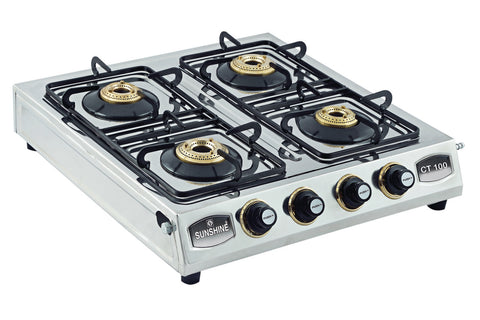 Sunshine CT-100 Four Burner Stainless Steel Gas Stove