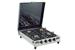 Sunshine CT-200 Cover Four Burner Stainless Steel Gas Stove