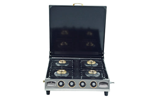 Sunshine CT-200 Cover Four Burner Stainless Steel Gas Stove - Sunshine Super Kitchen