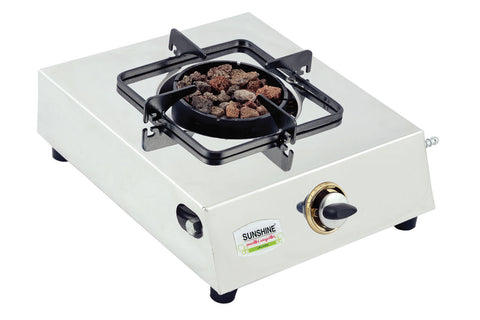 Sunshine Meethi Angeethi Single Burner Stainless Steel Gas Stove - Sunshine Super Kitchen