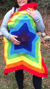 Crochet Star Baby Carrier Cover