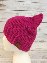 Crochet Pussycat Hat - Pussy Hat - Cat Hat  - Kitty Hat