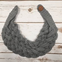 Double Layered Braided Cowl. Crochet Cowl. Braided Crochet Scarf.