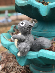 Shelby the Squirrel. Crochet Squirrel. Squirrel Stuffed Animal.
