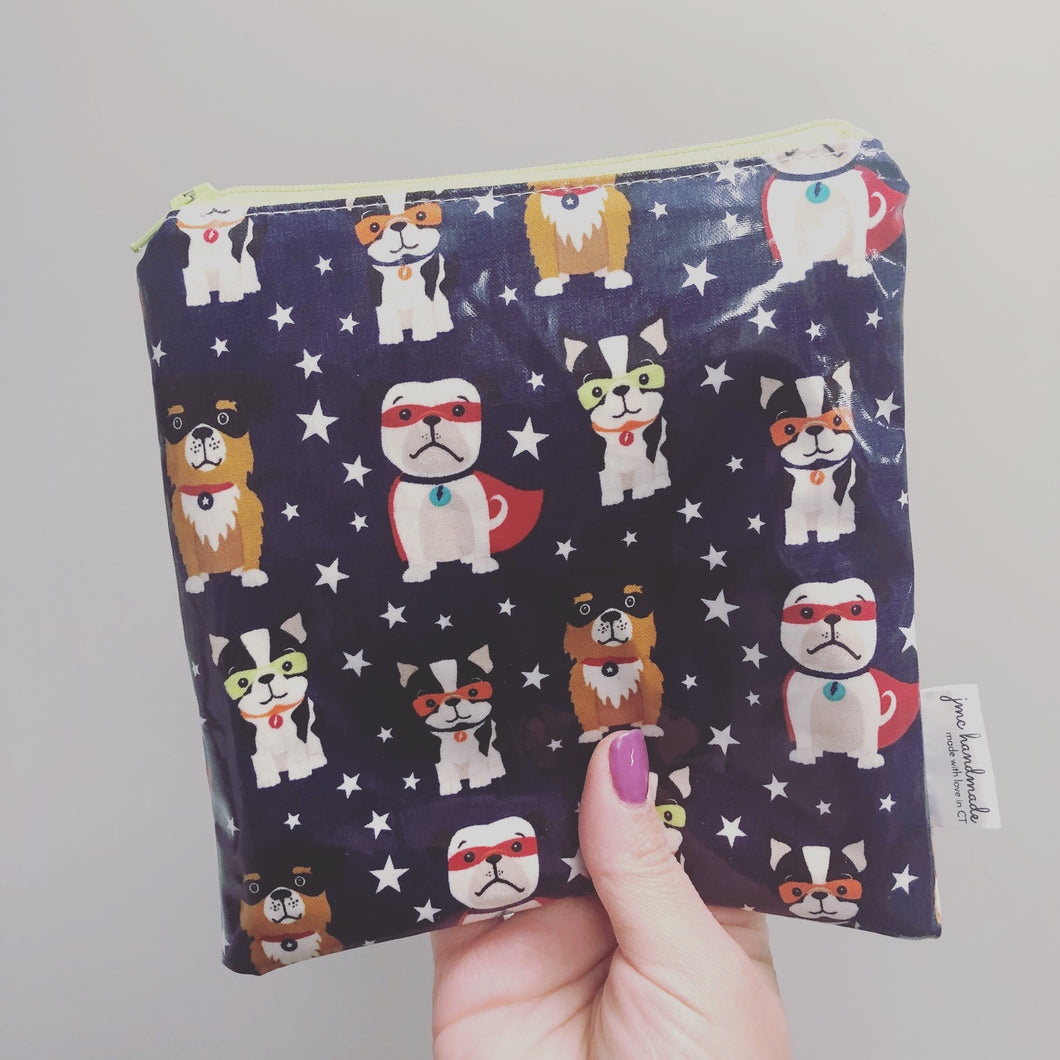 Reusable Snack Bags - Super Dogs Print