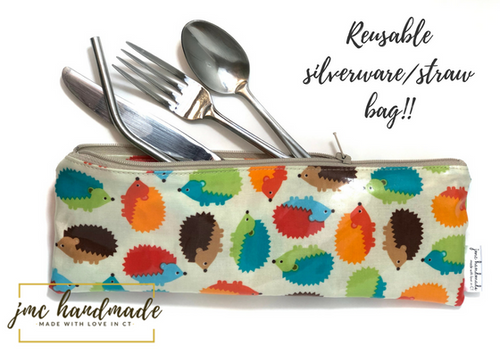 Reusable TO GO Bag - Great for silverware, straws, and toothbrushes!
