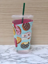 Donuts Iced Coffee Cozy. Drink Sleeve.