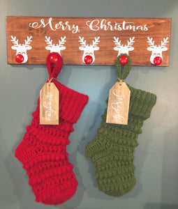 Farmhouse Crochet Christmas Stocking