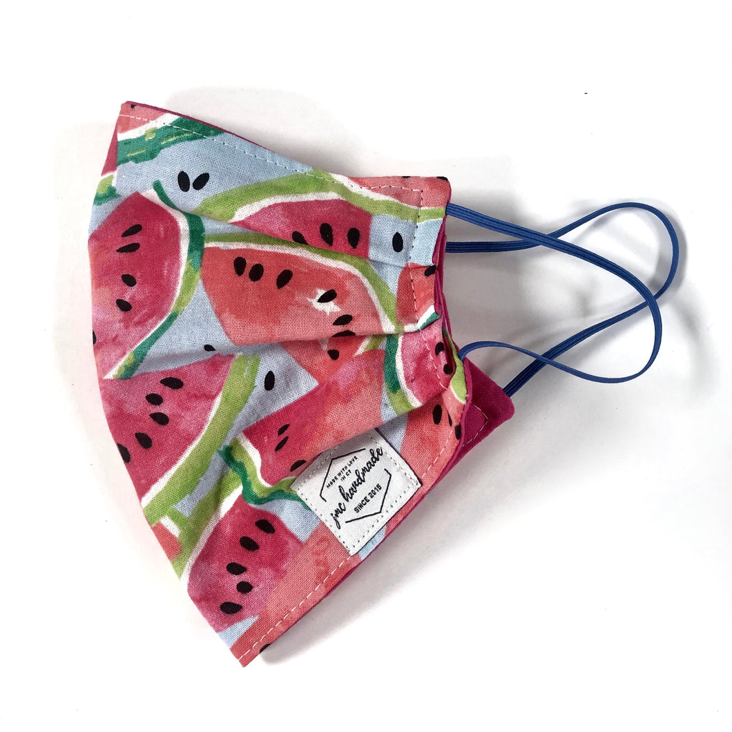 Watermelon Print Reusable Face Mask | Handmade Cotton shield