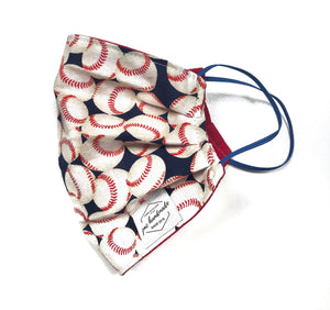 Baseball print  Reusable Face Mask | Handmade Cotton shield