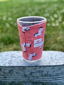 Unicorn Iced Coffee Cozy. Drink Sleeve | RTS