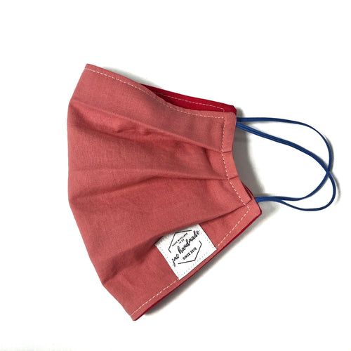 Coral Solid  Reusable Face Mask | Handmade Cotton shield