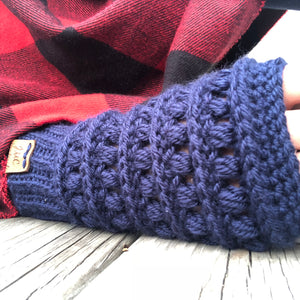 Fingerless Mittens - Hand Warmers - One Size Fits Most!