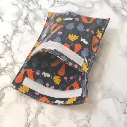 Reusable Snack Bags - Squirrel Print