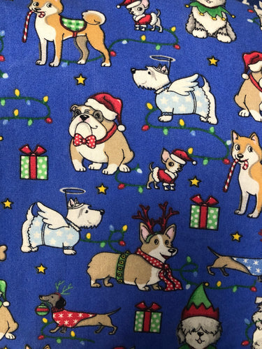 Holiday Dogs Print Face Mask | Handmade Cotton shield