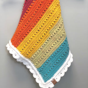 Crochet Rainbow Cloud Blanket