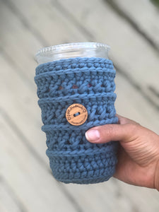 CopyLarge Crosstown Cozy slate blue  | Reusable Drink Cozy | RTS