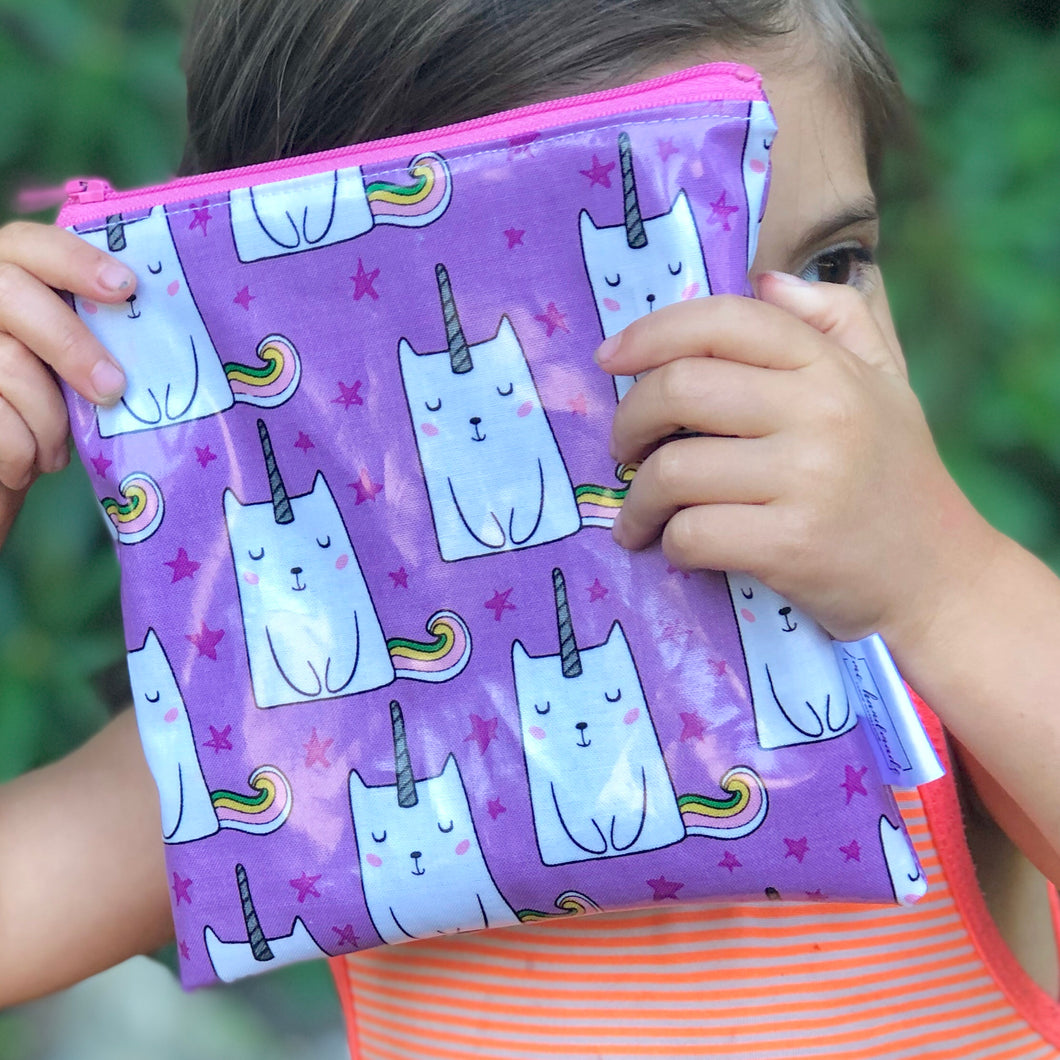 Reusable Snack Bags - Caticorn Print