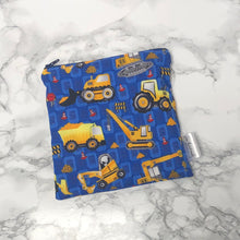 Reusable Snack Bags - Construction Print