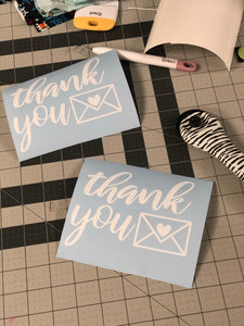 Thank you Vinyl Sticker | Mailbox Sticker