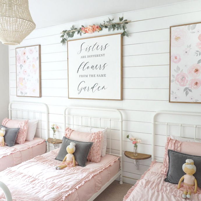 Girls' Shared Garden Bedroom Makeover