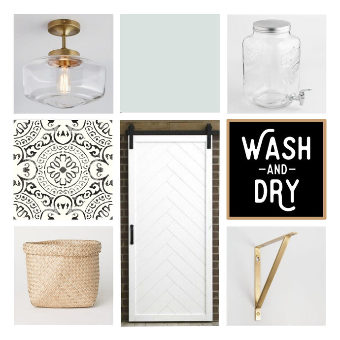 One Room Challenge, Week 1: Laundry Room Makeover