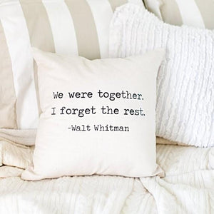 Walt Whitman Pillow Cover