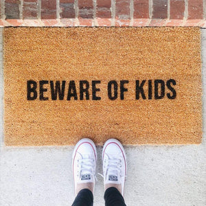 Beware of Kids Doormat