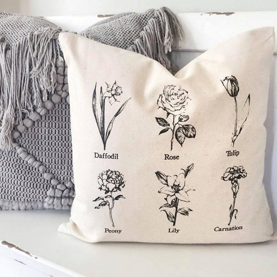 Floral Stem Pillow Cover