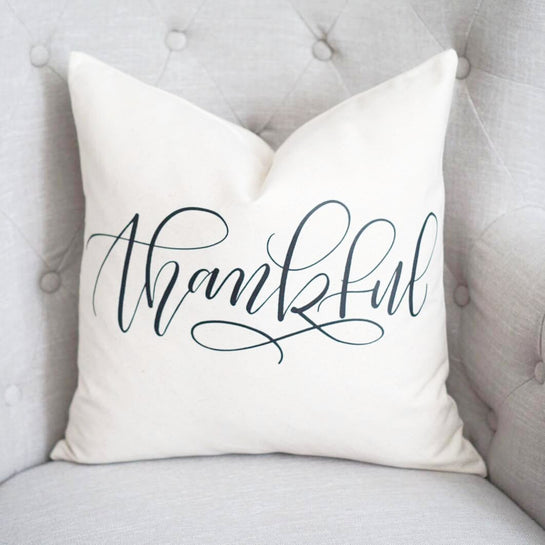 Thankful Pillow Cover