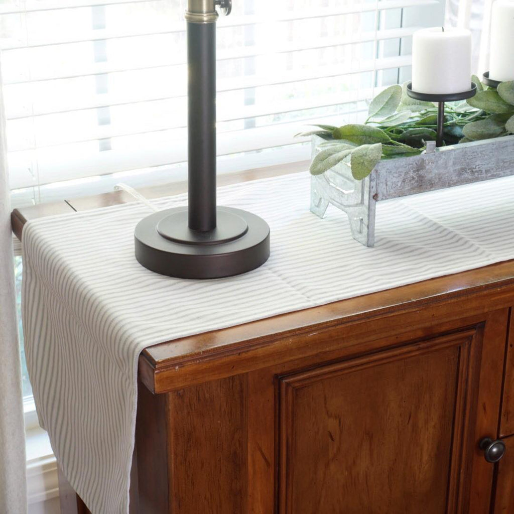 Ticking Stripe Table Runner