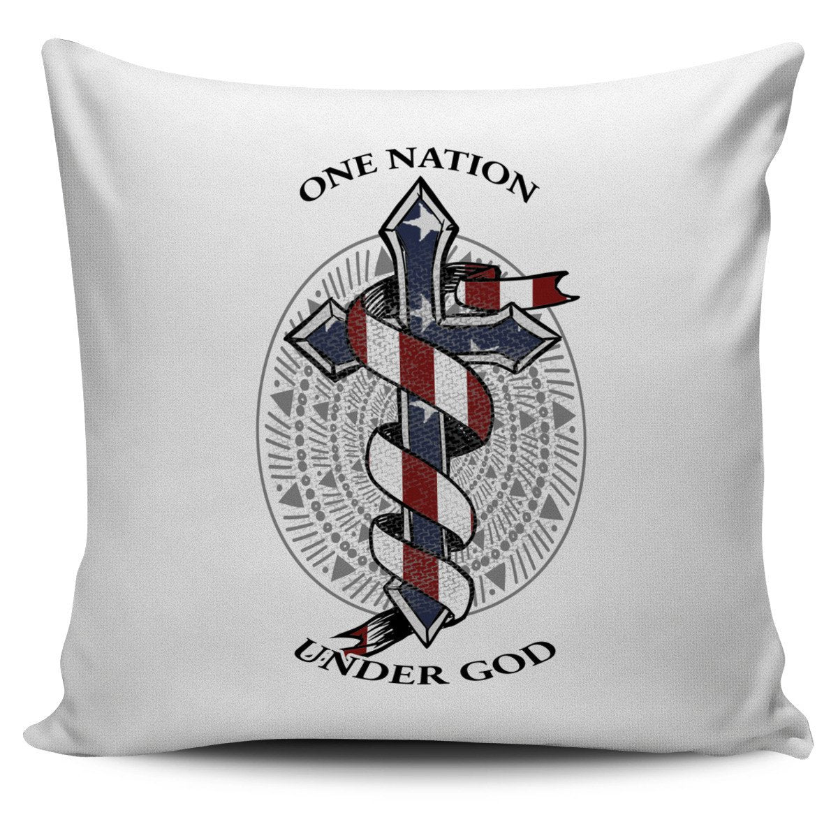Bible One Nation Under God White Pillow Cover