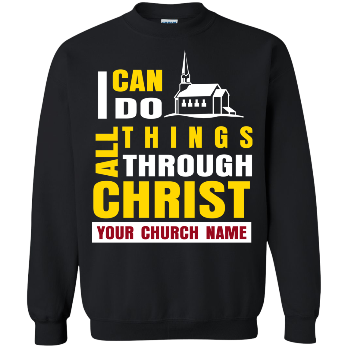 Christ T shirts I Can Do All Things Through Christ Hoodies Sweatshirts