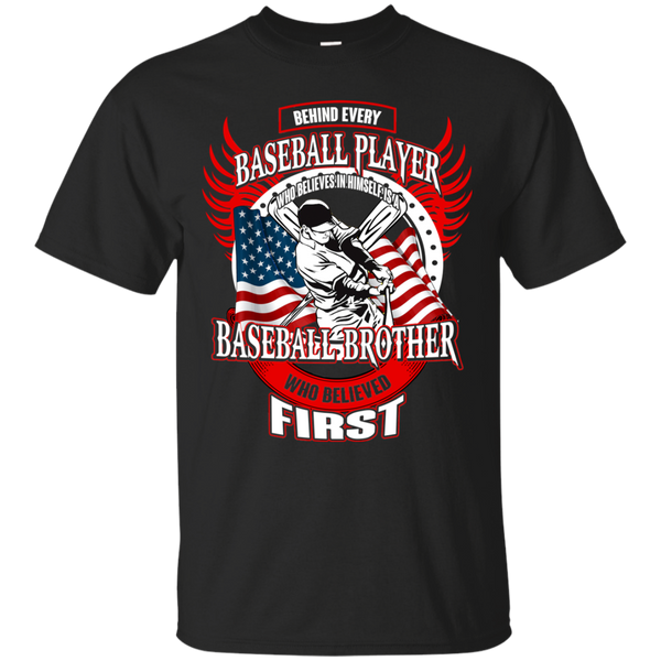 Baseball T shirts Behind Every Player Is A Baseball Brother Hoodies Sweatshirts TH