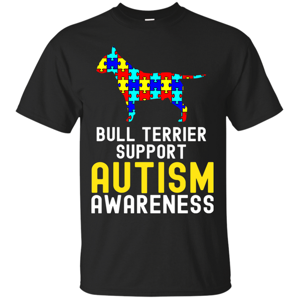 Bull Terrier T shirts Autism Support Hoodies Sweatshirts