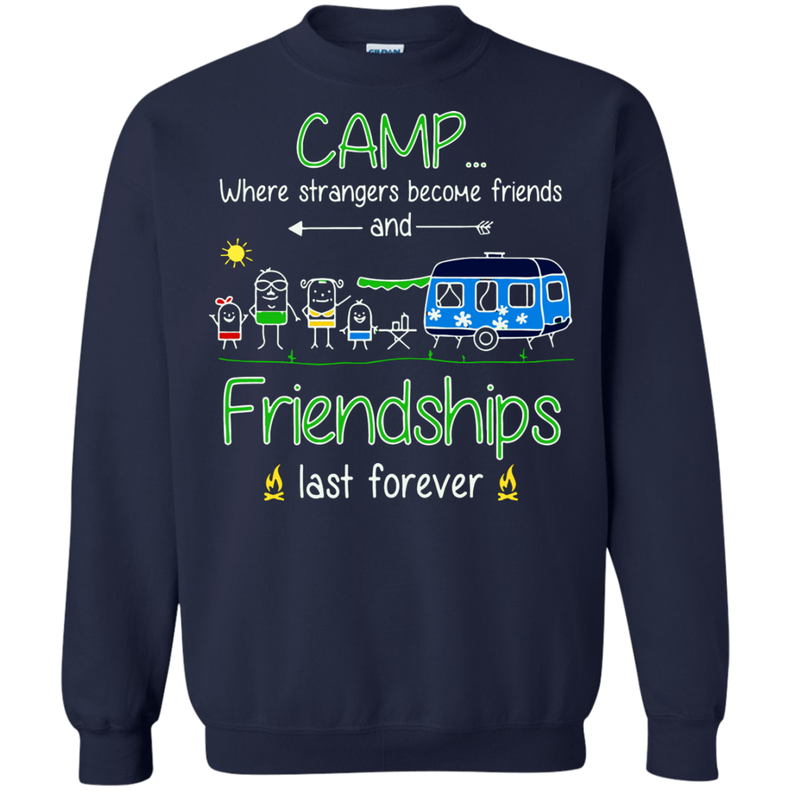 Camping T shirts Camp When Strangers Become Friends Hoodies Sweatshirts TH