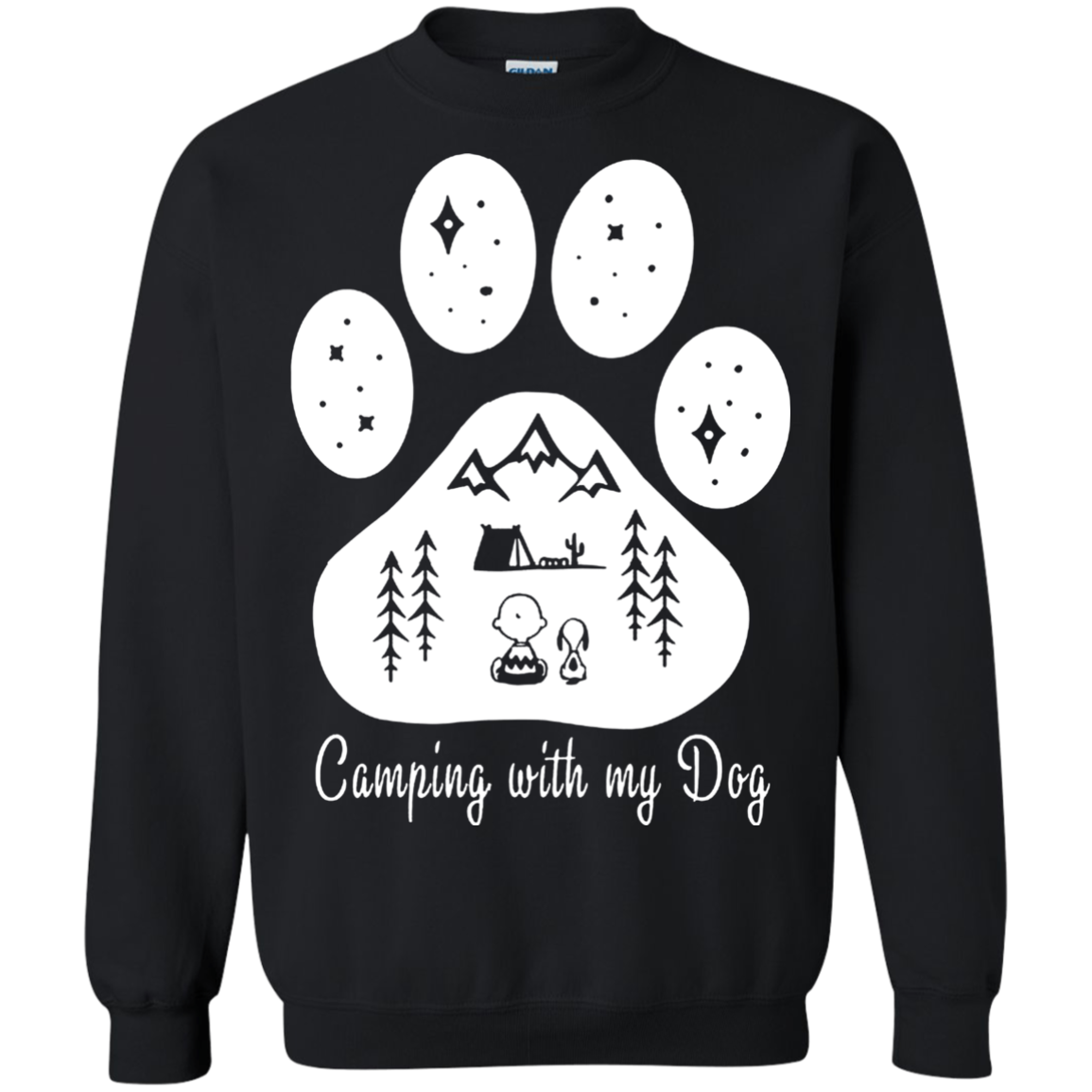 Camping T shirts Camping With My Dog Hoodies Sweatshirts TH
