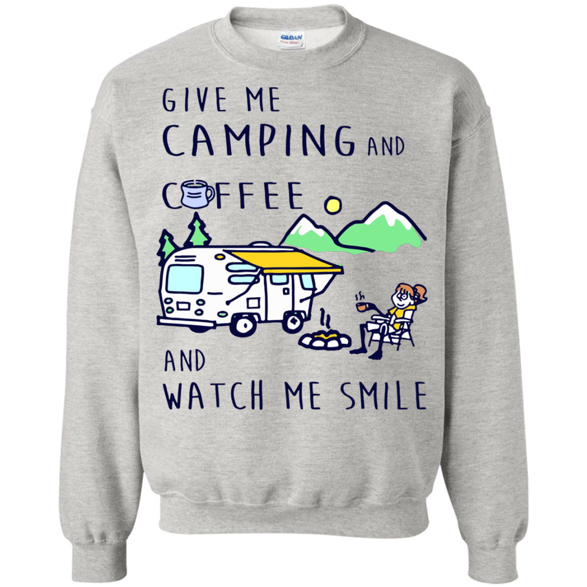 Camping Coffee T shirts Give Me Camping And Coffee Hoodies Sweatshirts TH